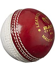 Ram Cricket Leather Training Ball - 2016 Spec - Red / White - 5.5oz