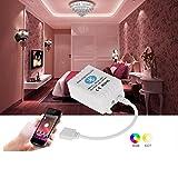 Ciecoo 12-24V drahtloser Bluetooth 4.0 RGB Fernsteuerpult für RGB LED Streifen-Licht / Birne Smartphone für IOS / Android APP Steuerung mit Musik- / Timing-Funktion