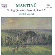 Martinu: String Quartets Nos. 4, 5 And 7