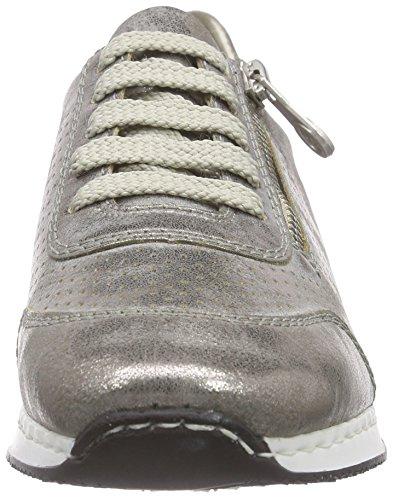 Rieker56016 Women Low-Top - Scarpe da Ginnastica Basse Donna Grigio (Grey / 40)