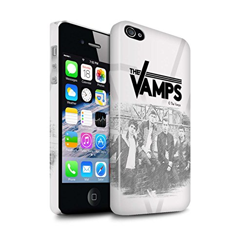 Offiziell The Vamps Hülle / Glanz Snap-On Case für Apple iPhone 4/4S / Pack 6pcs Muster / The Vamps Fotoshoot Kollektion Skizzieren