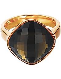 Esprit - ESRG11570D - Impressive Brown - Bague Femme - Acier inoxydable 6.42 gr - Verre - Marron