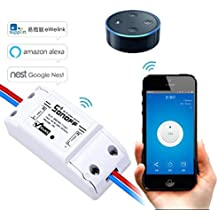 EVILTO Sonoff DIY Wireless Smart Switch Smart Home Controllato Interruttore Intelligente WiFi Domestica Telecomando per iOS Android App Elettrodomestico (1 Pcs)