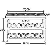 XQY Haushalt Holzschuh Rack, hohe Qualität Schuhschrank, Multi-Layer Haushalt einfache staubdichte Lagerung Schuh Eisen Wirtschaft Moderne Montage Schuhbank (70 * 34 * 45 cm), einfache Haustür Schuhr