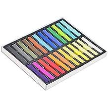 Boolavard - Set de tizas para decoración del pelo (24 colores)