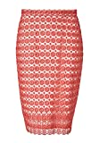 HALLHUBER Bleistiftrock aus Spitze körpernah geschnitten Koralle, 38