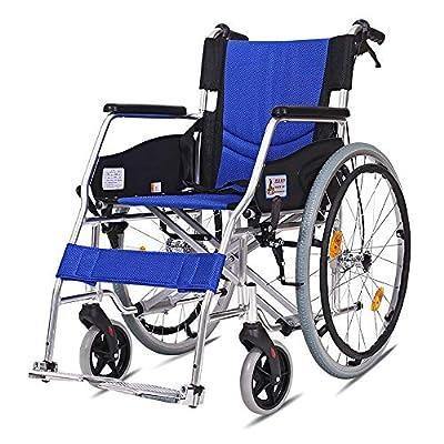 Wheelchair Comfort Multifunctional Portable Folding Transport Wheelchair Elderly Disabled Travel Chair Wagon With Handbrake