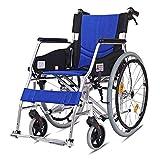 Rollstuhl Komfort Multifunktions Tragbare Falten Transport Rollstuhl Ältere Behinderte Reise Stuhl Wagon Mit Handbremse (Style : A)