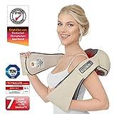 Donnerberg DAS ORIGINAL Nackenmassagegerät mit Wärme | Massagegerät für Nacken Schulter Rücken | Muskel Schmerzen | 3D-Rotation Massage | TÜV | 7 Jahre Garantie | Haus Büro Auto