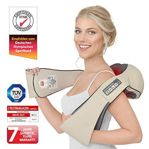 Donnerberg® DAS ORIGINAL Nackenmassagegerät mit Wärme | Massagegerät für Nacken Schulter Rücken | Muskel Schmerzen | 3D-Rotation Massage | TÜV | 7 Jahre Garantie | Haus Büro Auto