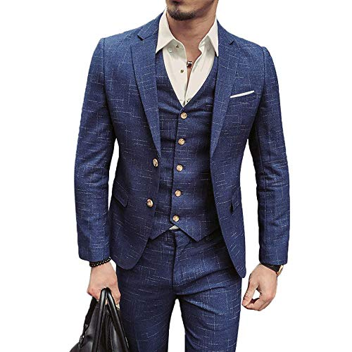 Mangetal Herren Fashion Anzug Gr. XXXL, blau