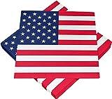 diverse 60 x Servietten Serviette Stars & Stripes 33 x 33 cm Party Geburtstag USA