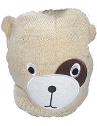 Filles animaux Beige scintillant Visage Beanie Hat style Environ Âge 7-10 ans
