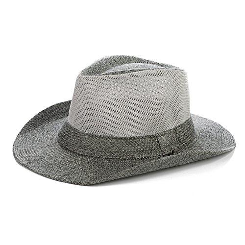 WYYY Chapeau Hommes Chapeau De Soleil Cône Haut Filet Respirant Large Bord Protection Contre Le Soleil À L'extérieur ( Couleur : Blanc )
