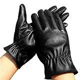 Das Fahren der Damenwinterlederhandschuhe im Freien, das Touch Screen Handschuhe schwarz fährt