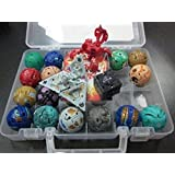 18 new bakugan &18 METAL CARD in bakucase all different amazing gift by world cup trophy