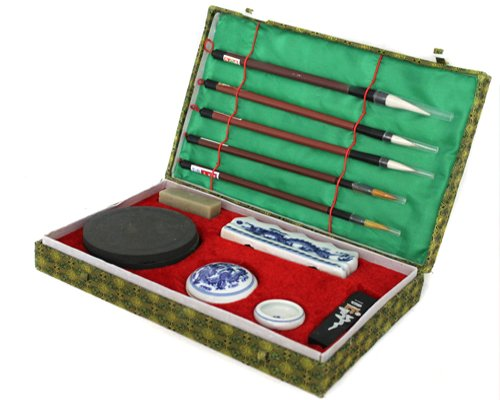Chinesische Kalligraphie Set 12 teilige inkl. Box