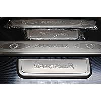Kia Sportage cromado puerta Sills bastidor de acero inoxidable juego de tapacubos 2011 2012 2013