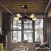Lámpara colgante de ventilador industrial de metal vintage Lámpara de techo lámpara de vapor Steampunk