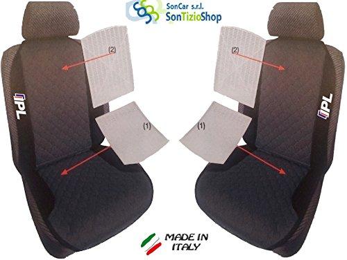 Preisvergleich Produktbild Paar von Rückenlehnen für Auto. Sitzbezüge universal Benutzerdefinierte mit Stickerei auf Draht: IPL G 37vom 2006. Bianco Viola Rosso