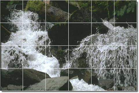 Wasserfälle Foto Bodenfliesen Wandbild 9. 81,3x 121,9cm (24) 8x 8Keramik Fliesen.