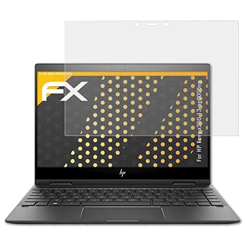 atFolix Panzerfolie kompatibel mit HP Envy x360 13-ag0005ng Schutzfolie, entspiegelnde & stoßdämpfende FX Folie (2X)