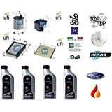 Tecneco Kit filtres ufi Ford Fiesta V 1.6 TDCi 66 kW + 4 litres huile Ford 5 W30