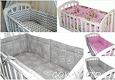 6pcs BABY SWINGING/ ROCKING CRIB /CRADLE BEDDING SET/ALL ROUND BUMPER 100% COTTON! - low-cost UK light shop.