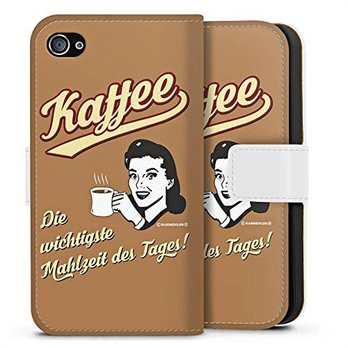 Apple iPhone X Silikon Hülle Case Schutzhülle Kaffee Statement Lustig Sideflip Tasche weiß