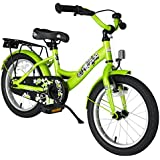 BIKESTAR® Premium Kids Bike ★ For safe and carefree joy of playing kids aged from 4 years ★ 16s Classic Edition ★ Brilliant Green