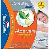 Bleu Câlin Lot de 2 Oreillers Aloe Vera Doux Blancs 60x60 cm OAVH
