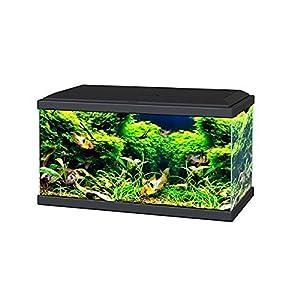 Ciano BLACK Aqua 60 LED Tropical Glass Aquarium – Includes Filter, Lights & Heater 58L