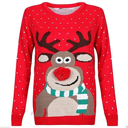 Renne de Noël tricoté de Noël de...