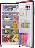 LG 190 L 4 Star Direct Cool Single Door Refrigerator(GL-B201ARGX.ARGZEBN, Ruby Glow,Smart Inverter Compressor)