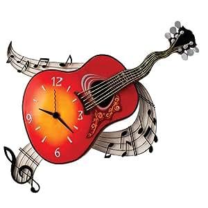 "Timewarp Horloge murale ""guitare acoustique"""