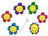 6 Folienballon mit Haltestab Blumen Mädchen Luftballon Kindergeburtstag Folienballon Set Party Deko Kindergeurtstag
