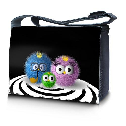 Luxburg® design sac en bandoulière sacoche sac collège daily bag 17,3 pouces, motif: Familie drôle