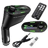 #10: Divinext™ Car Kit MP3 Player Wireless FM Transmitter Modulator USB SD MMC LCD with Remote Green Light