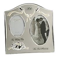 Photo Frame - Happy Anniversary 30th Pearl Wedding Anniversary Dual Photo Frame Special Occasion Gift Idea