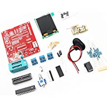 iHaospace Multifonctionnel LCD GM328 Transistor Testeur DIY Kit with Acrylic Case Diode Capacitance ESR Voltage Frequency Meter PWM Square Wave Signal Generator