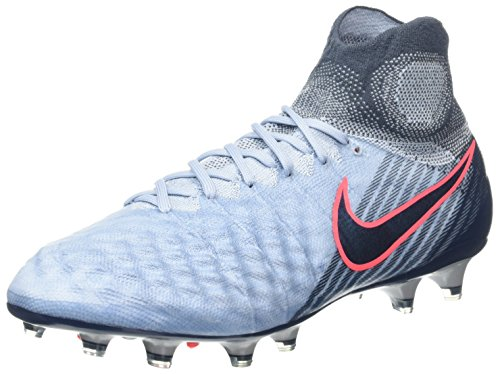 Nike Herren Magista Obra II FG Fußballschuhe, Blau (Light Armory Blue/Armory Navy-Armory Blue-Hot Punch), 43 EU