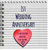 3dRose db_154428_3 1St Wedding Anniversa...
