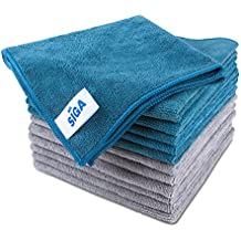 """MR. SIGA Microfiber Cleaning Cloth, Pack of 12, Size: 15.7"""" x 15.7"""""""