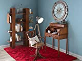 Moycor - Escritorio vintage persiana grande y bandeja extraíble con madera, tamaño 103 x 57 x 115