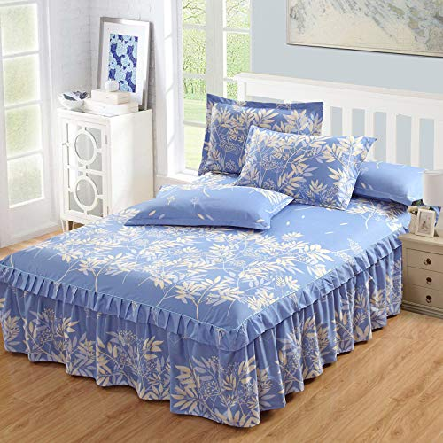CHLCH Wasserdichter Matratzenschoner - atmungsaktive Matratzenauflage,Koreanische Bett Rock Einzelbett Decken Federblatt 潇潇 150 * 200 * 45cm