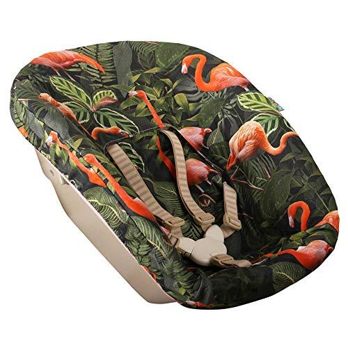Bezug Stokke Tripp Trapp Newborn Set Rosa Grün Flamingo Öko-Tex 100 Baumwolle Recycelbar Schweißabsorbierend und Weich für Ihr Baby