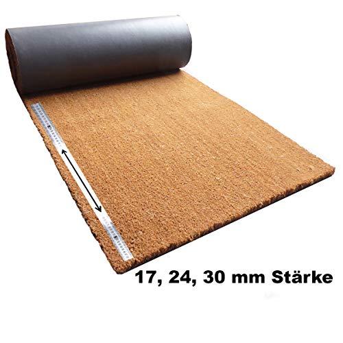 Kokosmatte Meterware | Kokos Fußmatte Zuschnitt auf Wunschlänge | Stärke: 17, 24 oder 30 mm –...