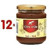 Côte d'Or Schokoladen-Brotaufstrich Melk 12 Gläser á 300g XXL-Pack (Vollmilch)