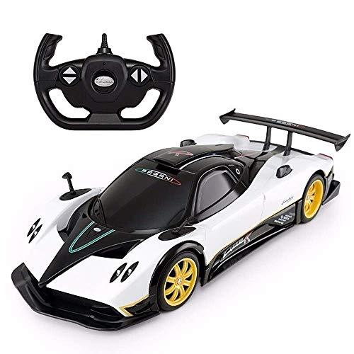 AIOJY Elektroauto Kinder drahtlose Fernbedienung Racing Drift offene tür Fahrzeug Toys rc Sport Auto 1:14 rc elektronische Sport rennen Modell 2,4 ghz funkgesteuert (Color : White)
