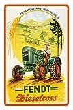 Fendt dieselross F15 traktor reklame blecshchild